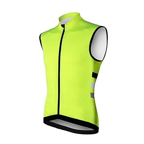 LXC Fietsen Gilet Waterdichte MTB Vest Sport Gilet Lichtgewicht Voor Fietsen En Running (Kleur: Groen, Maat: M)
