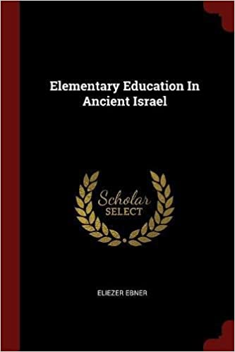 Book Elementary Education In Ancient Israel