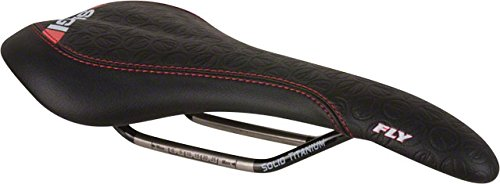 SDG Ti-Fly Saddle Black MicroFiber Cover/Painted Black Solid Ti Rails