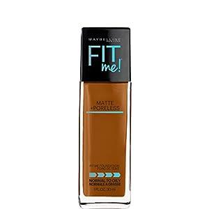 Maybelline Makeup Fit Me Matte + Poreless Liquid Foundation Makeup, Mocha Shade, 1 fl oz