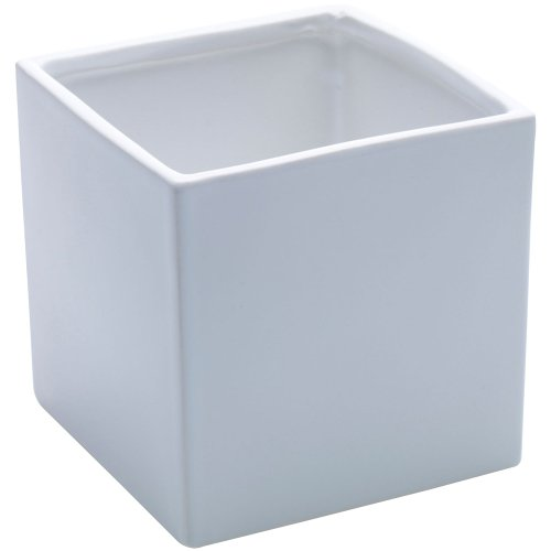 Afloral Ceramic Urban Square Vase in White - 4.75