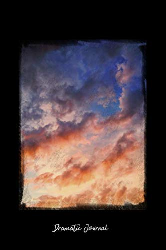 Dramatic Journal: Dot Grid Journal - Dramatic Sunset Sky Red Clouds Wallpaper Hd Dusk - black Dotted Diary, Planner, Gratitude, Writing, Travel, Goal, Bullet Notebook - 6x9 120 pages