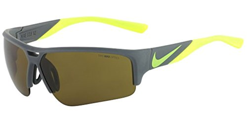 Nike EV0872-070 Golf X2 Pro Sunglasses (One Size), Matte Bomber Grey/Volt, Max Outdoor Lens by NIKE