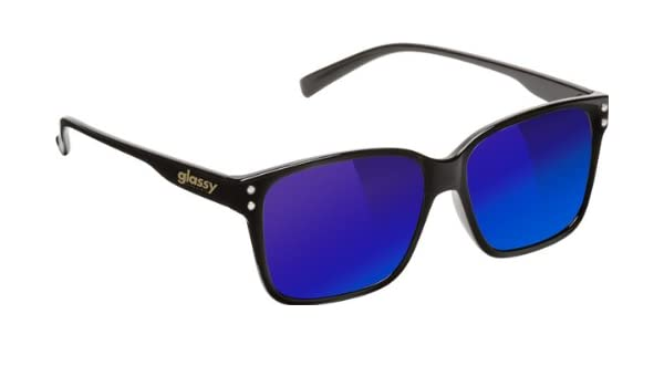 7ec8a726b5 Amazon.com  Glassy Fritz Sunglasses  Black Blue Mirror   Sports   Outdoors