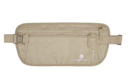 Deluxe Gear - Eagle Creek Travel Gear Luggage RFID Blocker Money Belt DLX, Tan