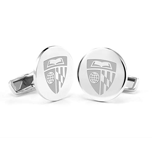 NCAA US Naval Academy Cufflinks in Sterling Silver by M.LaHart
