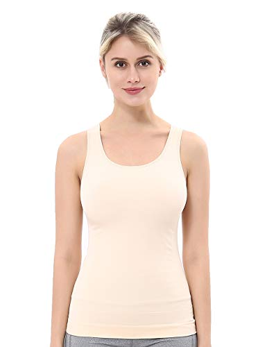 High Back Body Shaper - unilane Women Cami Shaper Tank Top Smooth Compression Tummy Firm Control Seamless Slim Body Shapewear Nude, Medium