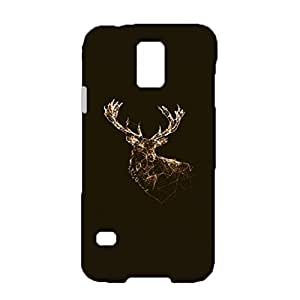 Samsung Galaxy S5 I9600 Deer Phone Case,Classical Fashion Deer Pattern Printed Hard 3D Mobile Case for Samsung Galaxy S5 I9600