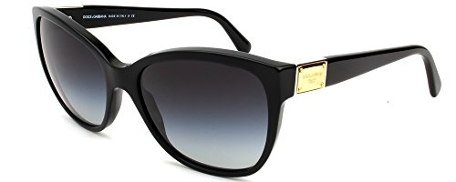 D&G Dolce & Gabbana 0DG4195 501/8G56 Butterfly Sunglasses,Black,56 - 2013 Gabbana Dolce And Sunglasses
