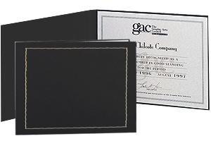 Black Certificate Folder frame w/border and acetate cover sold in 10's - 8.5x11