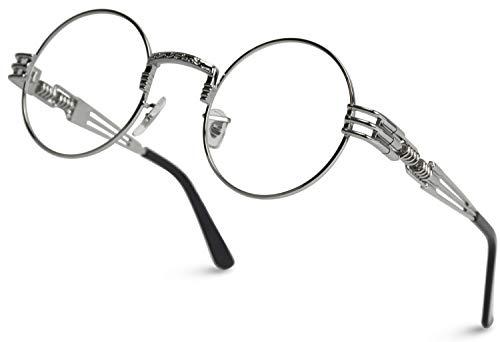 WearMe Pro - Metal Frame Retro Round Clear Lens Glasses
