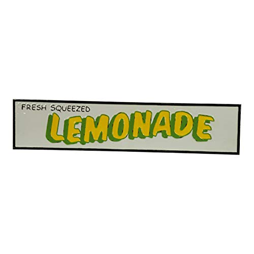VIPSSCI Fresh Squeezed Lemonade Metal Sign White Wall Mounted Word Art Plaque