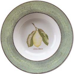 Wedgwood Sarah's Garden Soup Plates 8.5'' Green (Set of 4) by Wedgwood