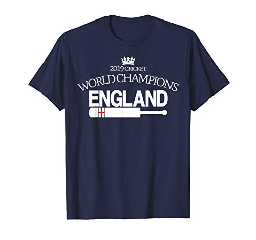 ENGLAND CRICKET (2019 WORLD CHAMPIONS with bat)  T-Shirt (Best Cricket Ball Brand In India)