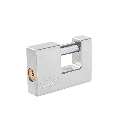 Lock L22C70TCSB Candado de Acero para Cortina Llave Tetra, Cromo Satinado, 70 mm