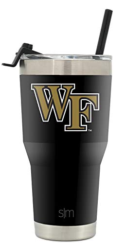 Simple Modern College Tumbler Straw Wake Forest