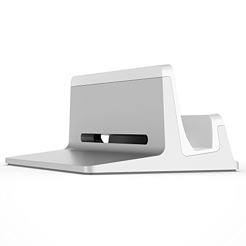 UPPERCASE KRADL Pro Small Profile Aluminum Vertical Stand for Retina MacBook Pro 13'' or 15'' (2012 to 2015 Releases), Silver/White by UPPERCASE (Image #2)