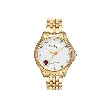 Jessica Simpson Women's Genuine Gemstone and White Topaz Bracelet Watch