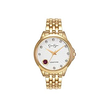 Jessica Simpson Girls's Real Gemstone and White Topaz Bracelet Watch