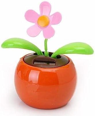 Solar Power Flip Flap Flower For Auto Car Home Ornament Dancing Flower·New