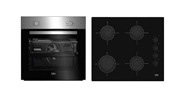 Beko BSE21031CXD - Cocina (Integrado, Negro, Acero ...