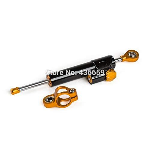 Iris-Shop - Adjustable Steering Damper Stabilizer For BMW Ducati Triumph MV Augsta Black CNC 6063-T6 Billet Aluminum