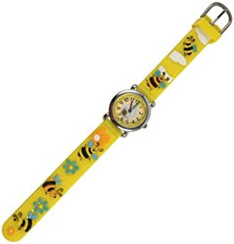 Geneva Kids Wristwatch, Honey Bee, In Gift Box, Yellow.