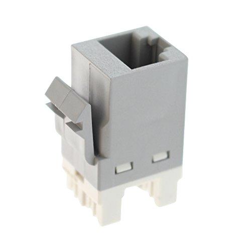 (Tyco Electric 1375055-4 Category 6 Ethernet Jack, CAT6 SL 110 Jack, Gray)