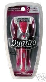 SCHICK QUATTRO RAZOR WOMEN Size: 1