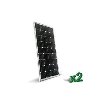 Set 2 X Solar Panel 150W Tot 300w Monokristalline Photovoltaic Haus Hütte  Camper
