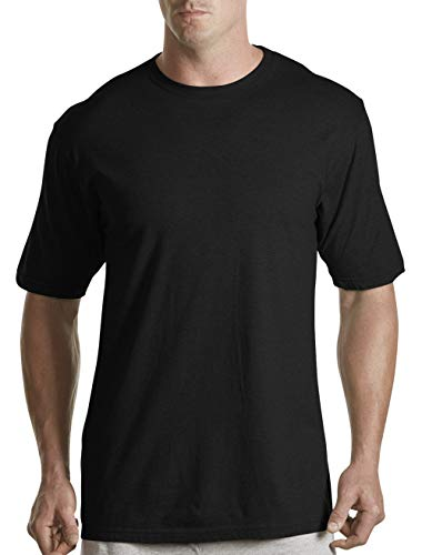 Harbor Bay by DXL Big and Tall Color Crewneck T-Shirts, Black 4XLTall, Pack of 3 ()