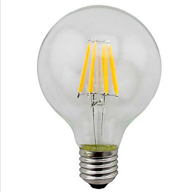 GDS 4W E26/E27 Bombillas de Filamento LED G95 4 SMD 5730 280 lm Blanco Cálido / Amarillo Decorativa V 1 pieza , 220-240v: Amazon.es: Iluminación