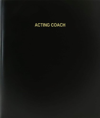 BookFactory® Acting Coach Log Book / Journal / Logbook - 120 Page, 8.5