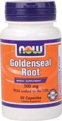 Goldenseal Root 50 Caps - Now Foods GOLDENSEAL ROOT 500mg 50 CAPS