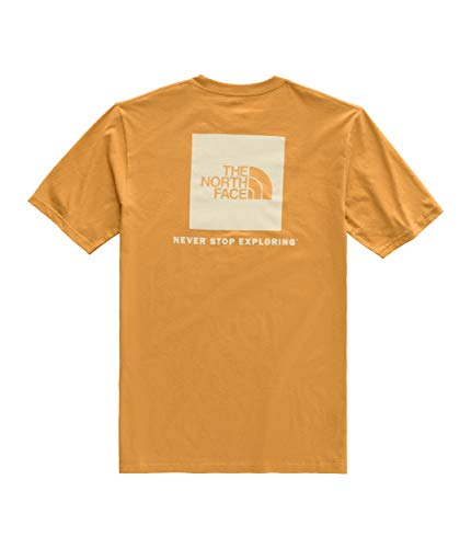 The North Face Men's Short Sleeve Red Box Tee, Citrine Yellow/Vintage White, Size 3XL