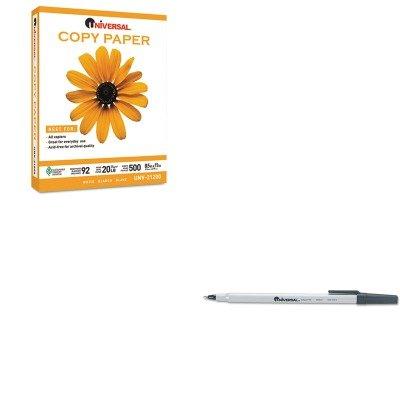 KITUNV21200PLTUNV27410 - Value Kit - Universal Copy Paper (UNV21200PLT) and Universal Economy Ballpoint Stick Oil-Based Pen (UNV27410)