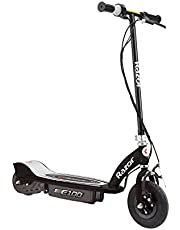Razor E100 Kids Ride On 24V Motorized Powered Electric Scooter Toy, Speeds up to 10 MPH with Brakes and Pneumatic Tires, Black