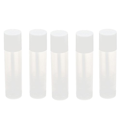 uxcell-Plastic-Portable-DIY-Lip-Balm-Tube-Cap-Lipstick-Holder-5mL-5pcs-White