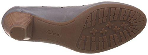 Clarks Denny Dazzle - Tacones Mujer Gris (Grey/Blue Lea)