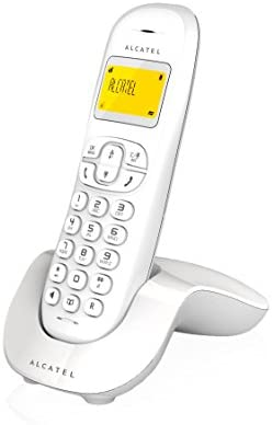 Alcatel ALC31C250B - Teléfono Fijo inalámbrico, Color Blanco: Amazon.es: Electrónica