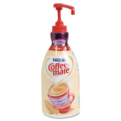 Creamer Pump Dispenser - Liquid Coffee Creamer, Sweetened Original, 1500mL Pump Dispenser, Sold as 2 Each