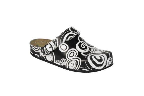 en femme AWC et tieffußbett sangle pour sandale de avec forme ajustable ristriemen schwarz Retro weiß «naturel» 5E5nqWpv