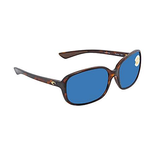 Costa Del Mar RVT10OBMP Riverton Sunglass, Shiny Tortoise Frame Blue Mirror