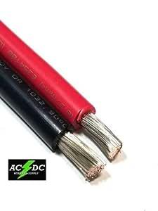 JumpingLight Cable de batería de Cobre estañado para Barco, Calibre 8 AWG, Cable eléctrico de 63 pies, Color Rojo y Negro