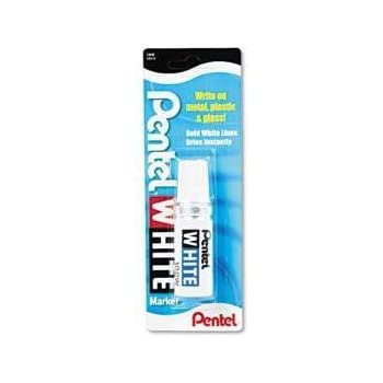 Permanent Marker, Broad Tip, White, Sold as Pack of 2