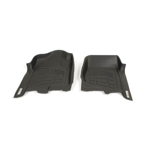 (Westin Wade 72-110001 Black Sure-Fit Front Right and Left Molded Floor Mat Set - 1 Pair)