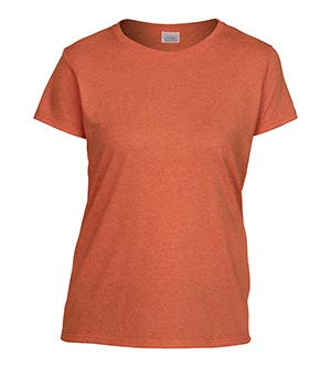 (Gildan 5000L - Missy Fit Ladies T-Shirt Heavy Cotton - First Quality - Sunset - Small)