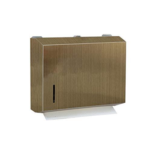 (Antique Brass Bronze Dual Dispensing Paper Towel Holder Toilet Paper Dispenser Stainless Steel Wall Mount Bathroom Vintage Luxury Restroom Trifold Hand Tissue)