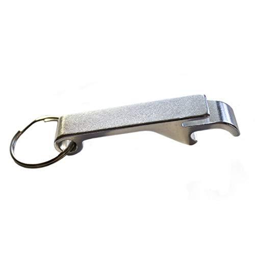 Keychain Bottle Opener - bartender bottle opener - Best Aluminum Bottle/Can Opener - Compact, Versatile & Durable - Vibrant Colors - Premium Keyring Bottle Opener - Ergonomic Design Silver