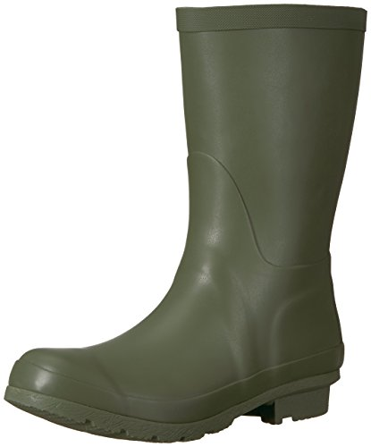 206 Collective Women's Linden Mid Rain Boot, Olive, 5 B US Outdoor Olive